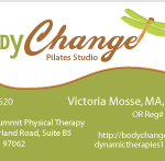 Body Change Pilates logo & business card