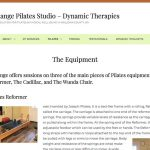 Dynamic Therapies and Body Change Pilates